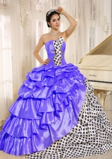 Popular Ball Gown Strapless 2014 Spring Quinceanera Dresses