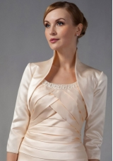 3/4 Sleeves High-neck Satin Popular Jackets