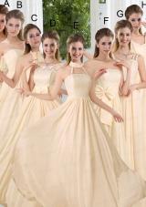 Empire Ruching 2015 Floor Length Bridesmaid Dress