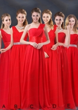 Ruching Empire 2015 Feminine Bridesmaid Dresses