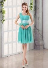 Straps Ruching Sweetheart A Line 2015 Elegant Dama Dresses