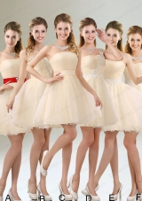2015 Perfect A Line Organza Prom Dress with Mini Length