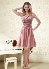 Straps Ruching Empire Chiffon 2015 Luxurious Prom Dresses