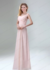 Beautiful Chiffon Prom Dress in Light Pink for 2015
