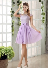 2015 Chiffon Mother of the Bride Dresses with Ruching Bowknot