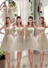Elegant Princess Mini Length Lace Mother of the Bride Dresses with Bowknot
