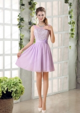 Perfect Mother of the Bride Dresses Ruching with Hand Made Flower in Lilac