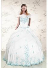 Elegant Appliques Strapless Lovely Quinceanera Dresses for 2015