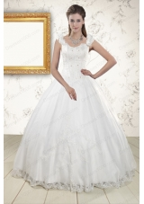 In Stock Discount Straps Quinceanera Dresses with Appliques and Beading