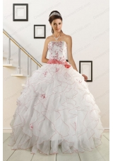Sweetheart 2015 Fashionable Quinceanera Dresses with Appliques and Belt