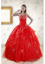 New Style Strapless Quinceanera Dresses for 2015