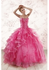 fashionable Sweetheart Beading Quinceanera Dresses with Brush Train