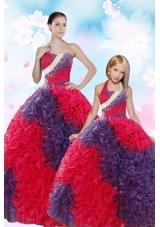 2015 Multi-color Ball Gown Beading and Ruffles Princesita Dress
