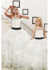 Sequins and Ruffles Ball Gown 2015 White Princesita Dress