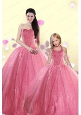 Simple Sweetheart Sequins Princesita Dress in Rose Pink For 2015