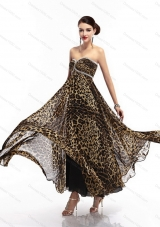 Sexy Sweetheart Leopard Floor Length Prom Dress for 2015