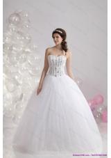2015 Perfect Sweetheart Wedding Dress with Beading