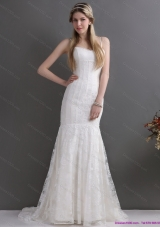 Brand New 2015 Spaghetti Straps Wedding Dresses with Lace