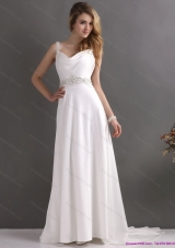 Top Selling Straps Wedding Dress with Paillette for 2015