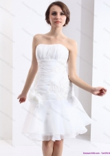 2015 Elegant Strapless Wedding Dress with Knee-length