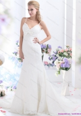 2015 Sophisticated White Wedding Wedding Dress with Lace and Bowknot
