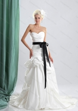 Elegant Sturning 2015 Sweetheart Wedding Dress with Ruching