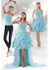 Sweetheart 2015 Detachable Prom Skirts with Beading and Ruffled Layers