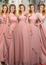 2016 Summer Cheap Ruching Dama Dresses in Peach