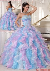 Elegant Multi Color Quinceanera Gowns with Ruffles and Appliques