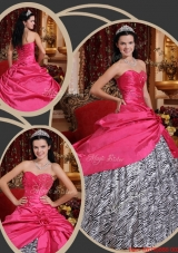 Fall Inexpensive Ball Gown Sweetheart Quinceanera Dresses in Hot Pink