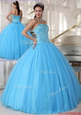 Spring Modern Sweetheart Ball Gown Beading Sweet 16 Dresses