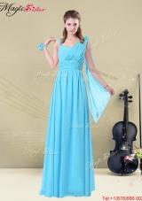 2016 Inexpensive Floor length One Shoulder Bridesmaid Dresses