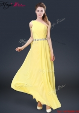 Spring Pretty Floor Length Bridesmaid Dresses with Belt