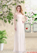Cheap One Shoulder Hand Made Flowers Prom Dresses in Champagne
