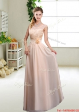 Beautiful Hand Made Flowers Prom Dresses with Column