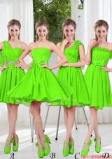 2016 Summer Luxurious A Line Short Beaded Bridesmaid Dresses