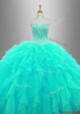 In Stock Ball Gown Elegant Sweet 16 Dresses with Beading and Ruffles