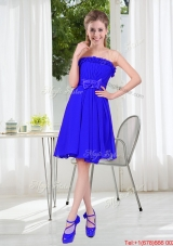 Short Strapless Dama Dresses for Wedding Party