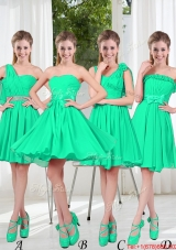Turquoise Short Dama Dresses in Fall