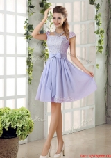 Custom Made A Line Square Bowknot Prom Dresses for 2016