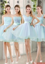 2016 Summer A Line Prom Dresses with Belt
