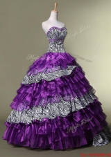 New Arrival Sweetheart Quinceanera Dresses with Ruffled Layers
