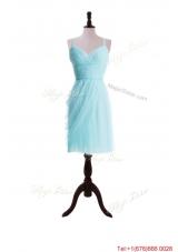2016 Summer Pretty Empire Spaghetti Straps Prom Dresses in Light Blue