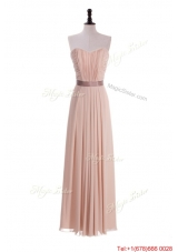 Custom Made Empire Sweetheart Ruching Prom Dresses with Belt