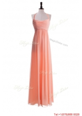 Exclusive 2016 Halter Top Long Prom Dresses in Watermelon