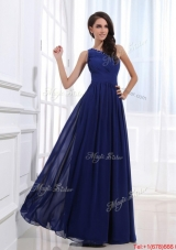 Fashionable Empire One Shoulder Prom Gowns with Beading for 2016