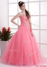 New Arrivals A Line Sweetheart Prom Dresses in Watermelon for 2016