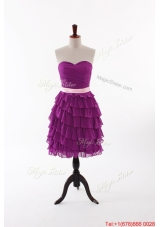 Beautiful Short Prom Dresses with Bowknot and Ruffled Layers