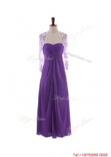 Pretty Empire Strapless Prom Dresses with Ruching in Eggplant Purple for 2016