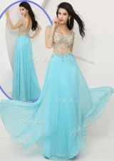2016 Beautiful Empire Straps Prom Dresses with Beading